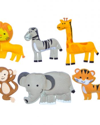 felt jungle animals magnetic toys