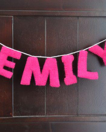 Emily natural wool felt custom garland