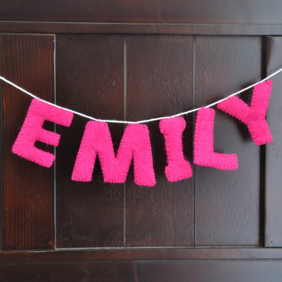 Emily natural wool felt custom garland